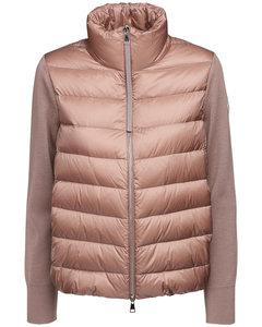 Nylon & Wool Short Down Jacket
