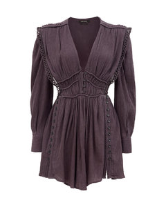 Yaxo V-neck cotton-voile mini dress