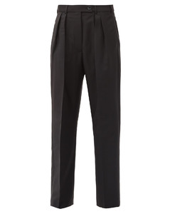 Philena pleated wool-blend trousers