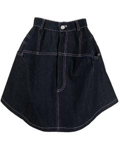 Technical cotton gabardine trench coat