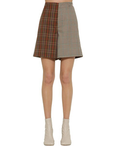 Tailored Check Wool Blend Shorts