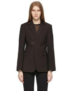 棕色Blook西装外套