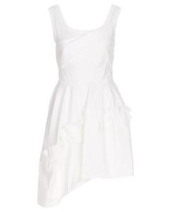high-waisted slit-detail skirt