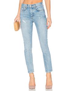 KAROLINA高襠緊身牛仔褲