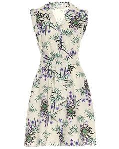 花卉棉質混紡連衣裙