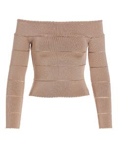 无袖褶饰连衣裙