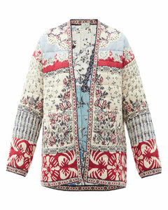 Panarea floral-print quilted silk-blend jacket