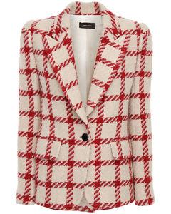 Kioa Check Wool Blend Blazer