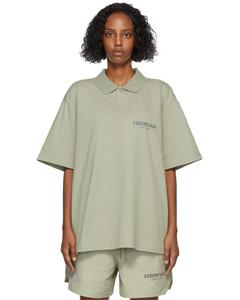 绿色徽标Polo衫
