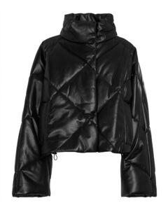 Aina padded faux leather jacket