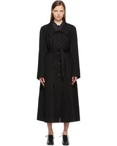 黑色斜纹风衣