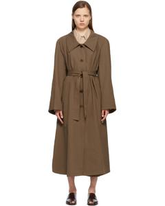 棕色斜纹风衣