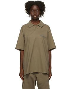 灰褐色徽标Polo衫