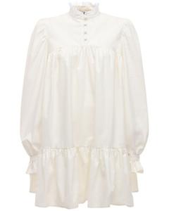 Lvrexclusive Ruffled Cotton Blend Dress