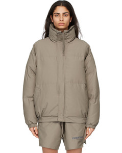灰褐色填充夹克