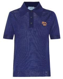 Logo intarsia wool polo shirt