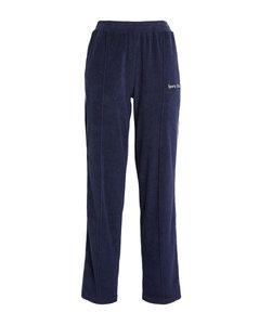 White zipped rib-knit fitted skirt