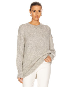 Oversized Crewneck Sweater in Gray