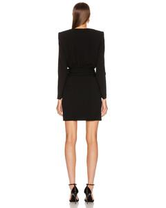 Long Sleeve Keyhole Mini Dress in Black