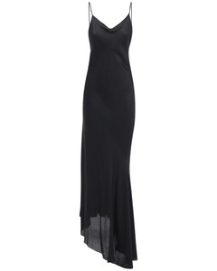 Stretch Satin Long Slip Dress
