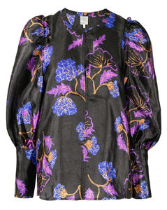 Straight-leg silk-trim wool-twill trousers