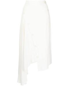 Straight-leg silk-trim wool-twill trousers