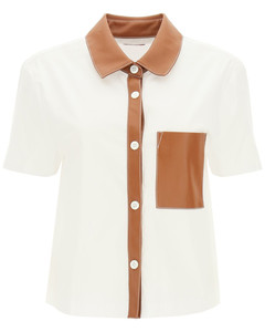 ANTON SHIRT WITH VEGAN LEATHER FINISHES
