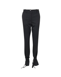 Tie hem slim fit trousers