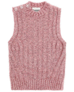 Pullovers Ganni for Women Pink Nectar