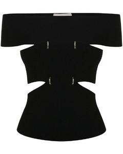 Chevron knit vest