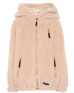 Faux shearling hoodie