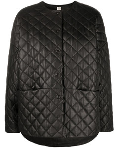quilted effect jacket