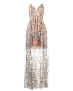 Sequin Ruffle Maxi Dress