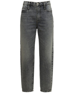 Fringed-Hem Knitted Sweater in Grey