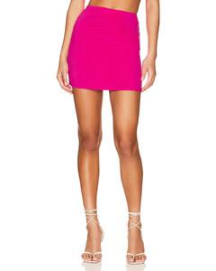 搭扣花卉半身裙