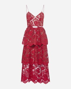 Flower lace midi dress