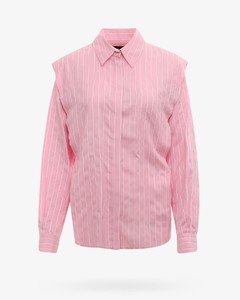 Woman Belted Crinkled Cotton-blend Tapered Pants