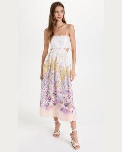 Octavia Flocked Mini Dress