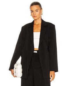Melange Suiting Blazer in Black