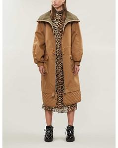 Collared poplin coat