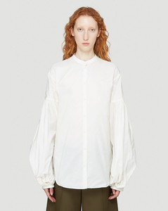Puff-Sleeved Shirt in White