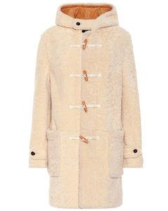 羊毛皮粗呢大衣