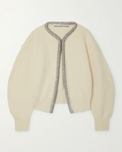 Crystal-embellished Wool-blend Cardigan
