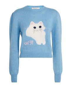 Mohair-Blend Cat Sweater