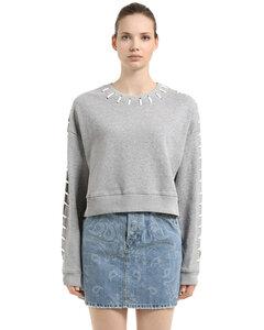 Whip Stitch French Terry Crop Sweatshirt
