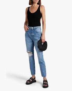Cream cowl-neck stretch-knit top