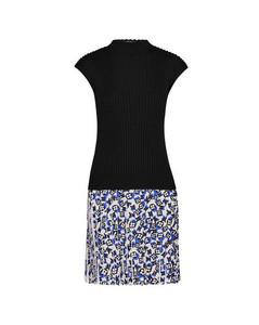 Sleeveless Bi-Material Knit Dress