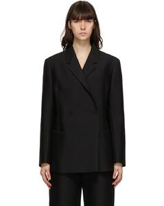 黑色大廓形西装外套