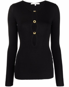 Cropped cashmere-blend sweater