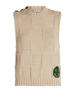Smiley Graphic Sweater Vest